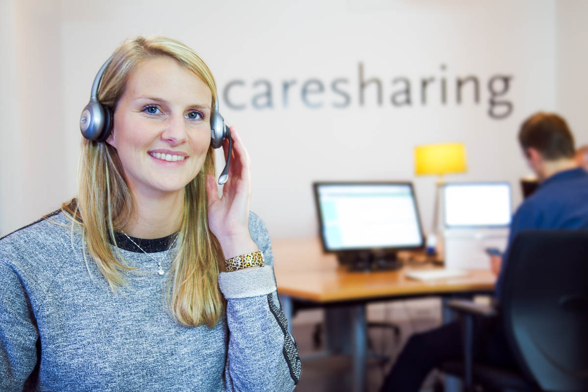 Helpdesk medewerker voor Caresharing - bedrijfsfotografie voor website