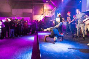 Breakdancers bij Nike x Footlocker event Utrecht