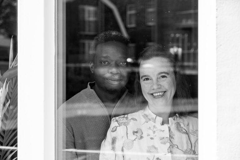 Lockdown Portraits: Safe Behind Glass / #VeiligAchterGlas